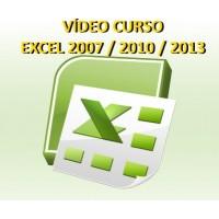 VÍDEO CURSO INTERATIVO EXCEL 2007, 2010 e 2013